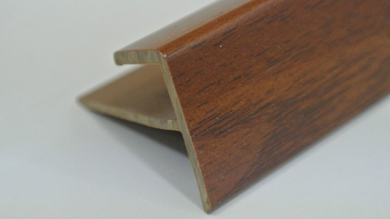 Nosing - F Type (For 8mm panel) Walnut