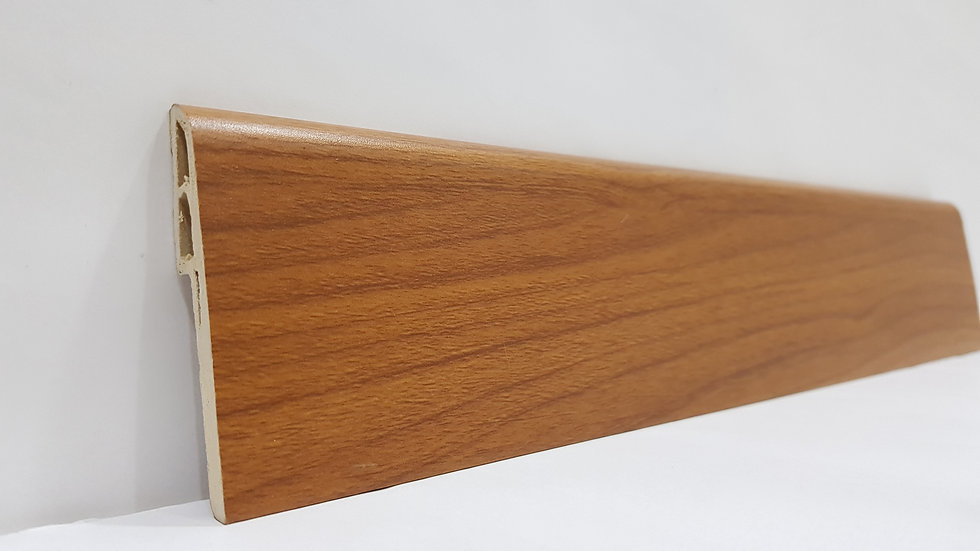 PVC Skirting 70mmH Teak