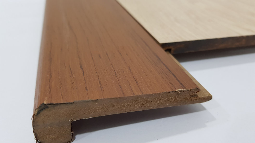 HDF Stairnose (Groove in - For 8mm panel) Walnut