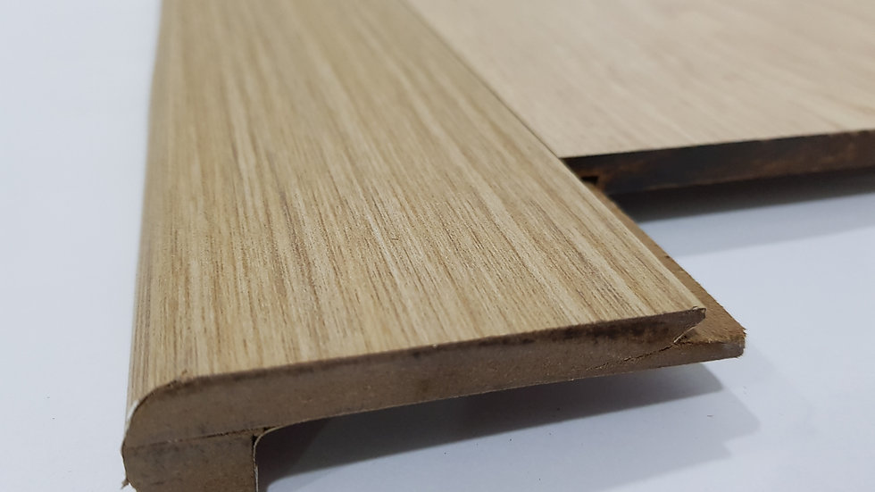 HDF Stairnose (Groove in - For 8mm panel) Almond