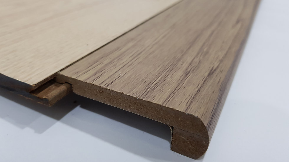 HDF Stairnose (Tongue in - For 8mm panel) Mocha