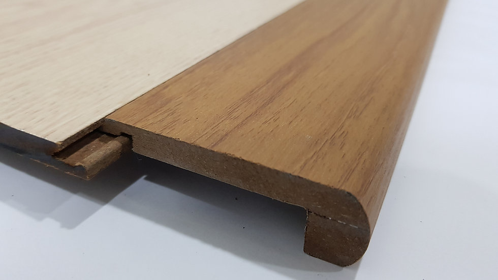 HDF Stairnose (Tongue in - For 8mm panel) Teak