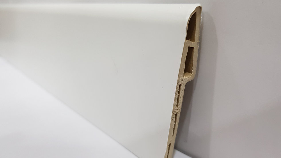 PVC Skirting 70mmH Pure White