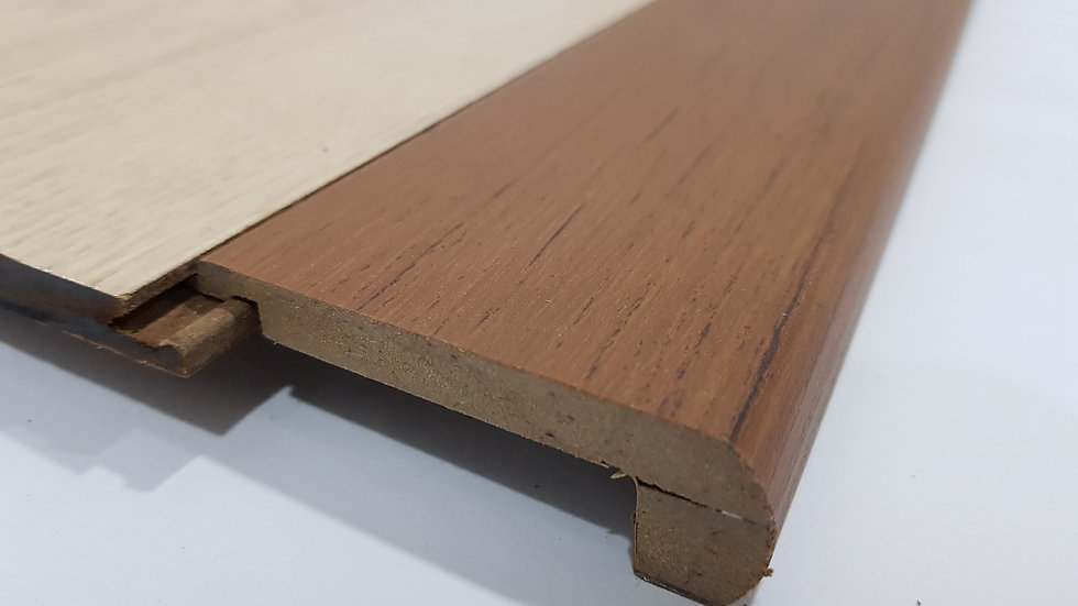 HDF Stairnose (Tongue in - For 8mm panel) Walnut