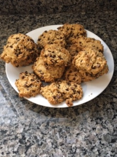 Vegan Gluten-free Oatmeal Chocolate Chip Cookies