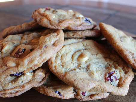 Gluten-Free Cranberry White Chocolate Chip Cookies