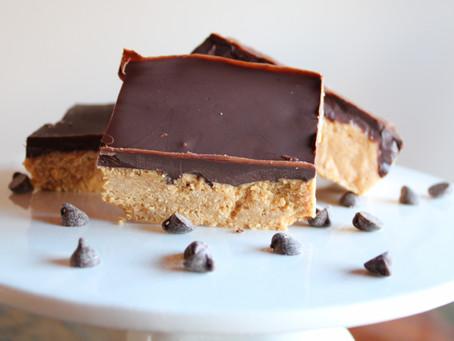 Gluten-Free Vegan No Bake Chocolate Peanut Bars