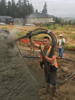 Keiffer spraying hot mud