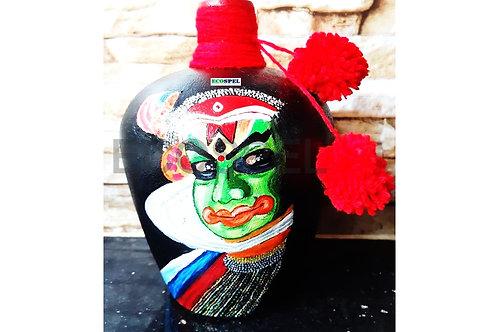 Ecospel Kadhakali Bottle Art   Kerala Traditional  Painting On Glass Bottle  