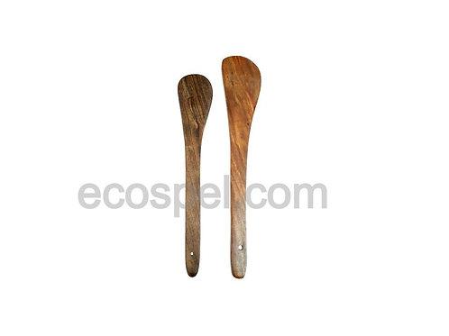 Wooden Spatula Combo Set of 2 Spatulas  