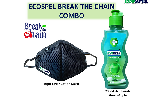 Ecospel Hand wash face mask combo  