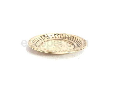 Small Thali   Good Finished Decorative Small Palm Sized Brass Plate  