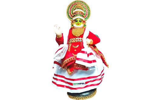Ecospel Home Decorative Fiber Kathakali Doll, Height 11-inch(Multicolour)