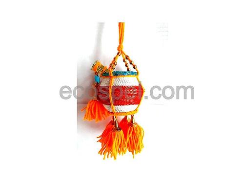 Krishna Butter Pot | Wall Hanging Multi Colored Good Finished Fancy Uri |