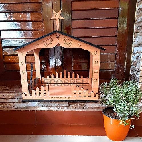 Elegance Central Wooden Christmas Crib Set   Good Finished Wood Nativity Set  