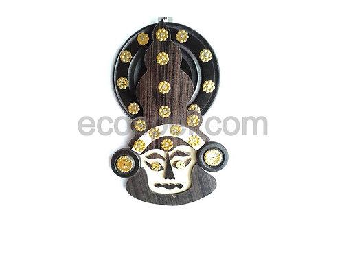 Kerala Traditional Wall Hanging Wooden Kadhakali Mask |