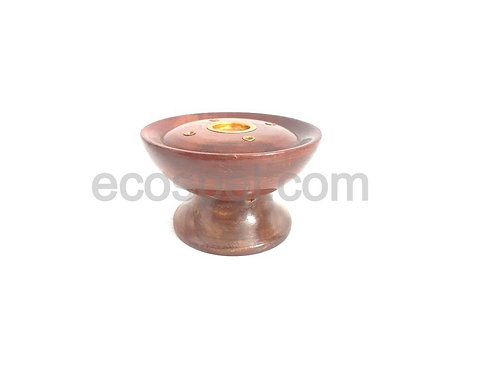 Wooden Candle and Agarbathi Stand   Smooth Finished Candle Agarbathi Holder  