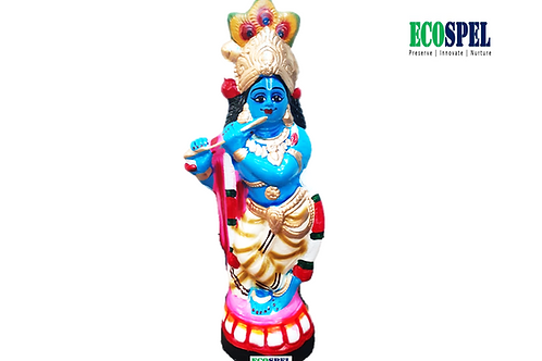 Ecospel Sree Krishna Idol    Paper Pulp Sree krishna Idol  