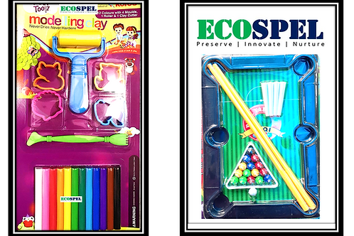 Ecospel Modeling Clay with Snooker Toy Combo | The Best Indoor Play Set for Kids