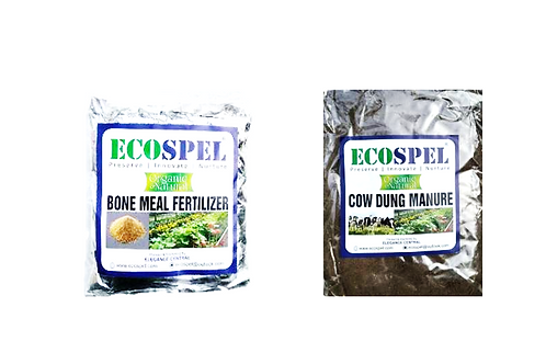 Ecospel Plants Meal Combo Pack of 2 | Bone Meal & Cowdung Combo Pack |