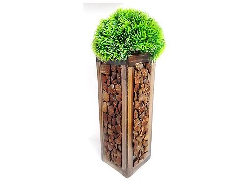 Elegance Central Wooden Coconut shell Arranged Flower Vase  