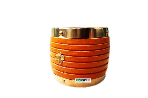Ecospel Wooden Nazhi   Smooth Finished Kerala Traditional Wood Bowl  