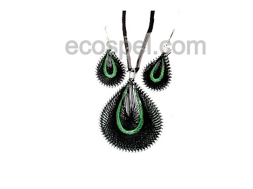 Handcrafted Thread Work Pendent and Earring Combo Set  
