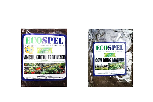 Ecospel Plants Meal Combo Pack of 2   Cow Dung & Anchukootu Combo Pack  