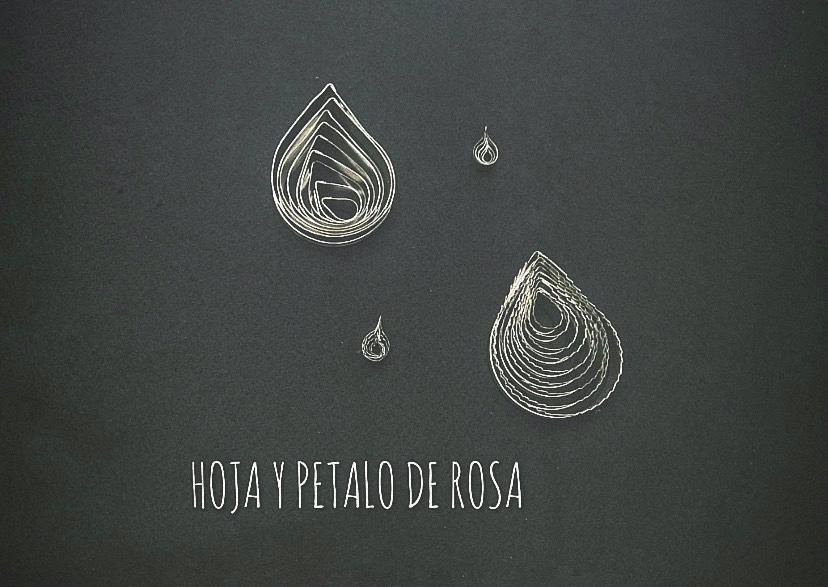 HOJA Y PETALO DE ROSA