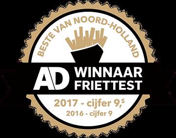 AD friettest 2017 - sticker - klein_zwar