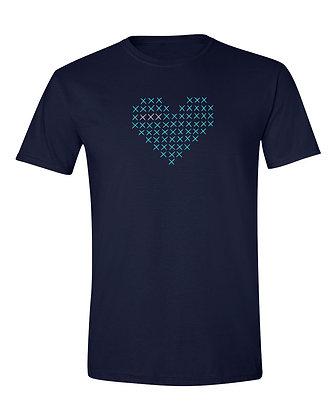 Cross Stitch Heart T-Shirt