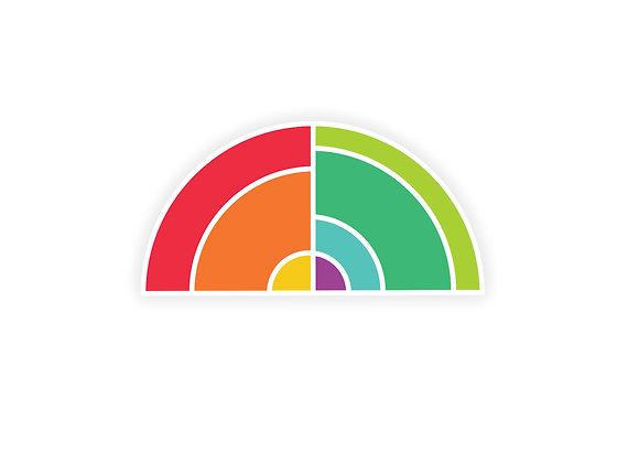 Geometric Rainbow Sticker