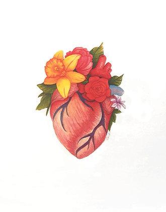 Floral Heart #2 Art Print
