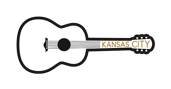 Kansas City Guitar Sticker