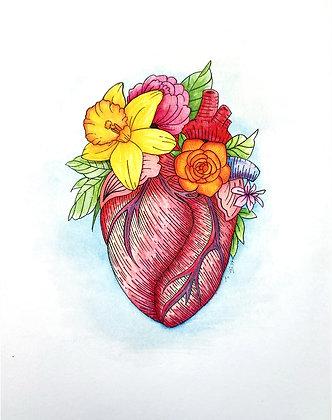 Floral Heart #1 Art Print