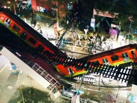 Suman 24 muertos por colapso de trabe en L-12