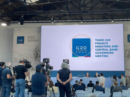 G20 respalda impuesto mínimo global de 15%