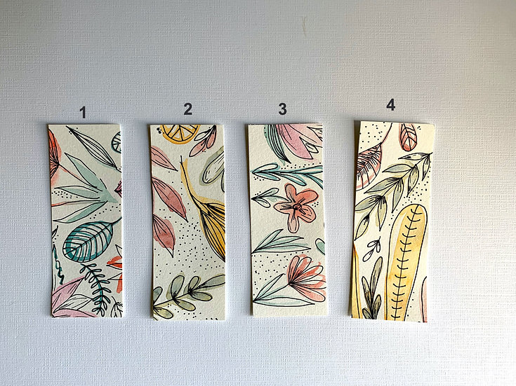 Autumn  Floral Bookmarks