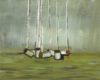 cans - 2009 - oil on canvas - 40 x 50cm.