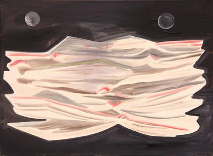 nachtbuchkatze - 2008 - öl auf leinwand - 30 x 40 cm