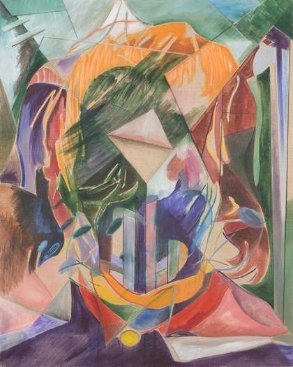 tangram - 2015 - wasserfarbe und acryl auf leinwand - 100 x 80 cm