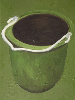green one - 2010 - oil on canvas - 40 x
