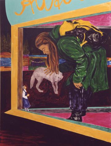 Autodrom -2004 - oil on canvas - 190 x 1