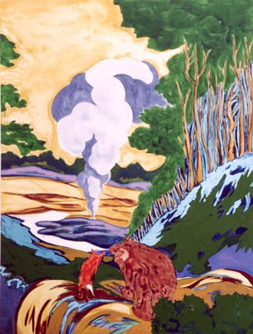 Gute Nacht -2004 - oil on canvas - 190 x