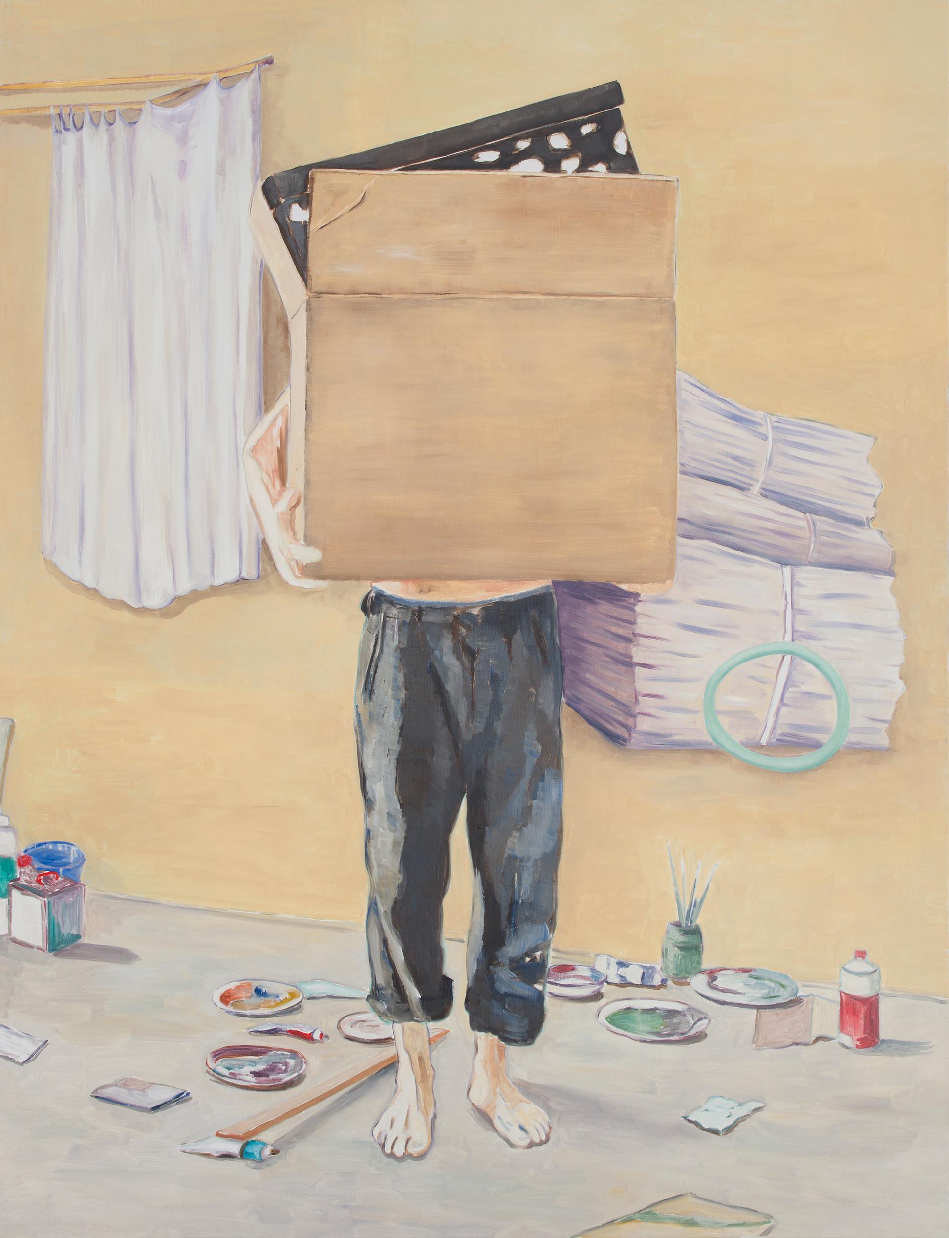 the assistant II - 2013 - öl auf leinwand - 190 x 145 cm