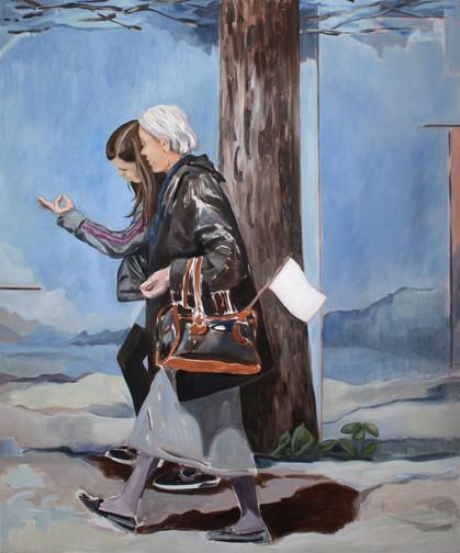 the walk - 2017 - öl auf leinwand - 145 x 120 cm