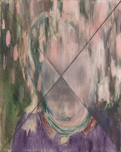 regenkopf - 2015 - wasserfarbe auf leinwand - 50 x 40 cm