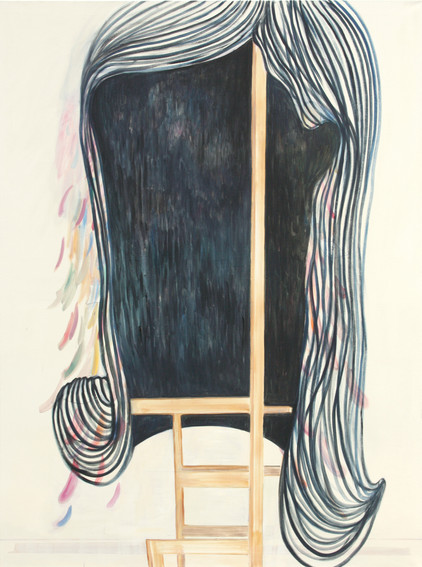 hair - 2009 - öl auf leinwand - 160 x 120 cm