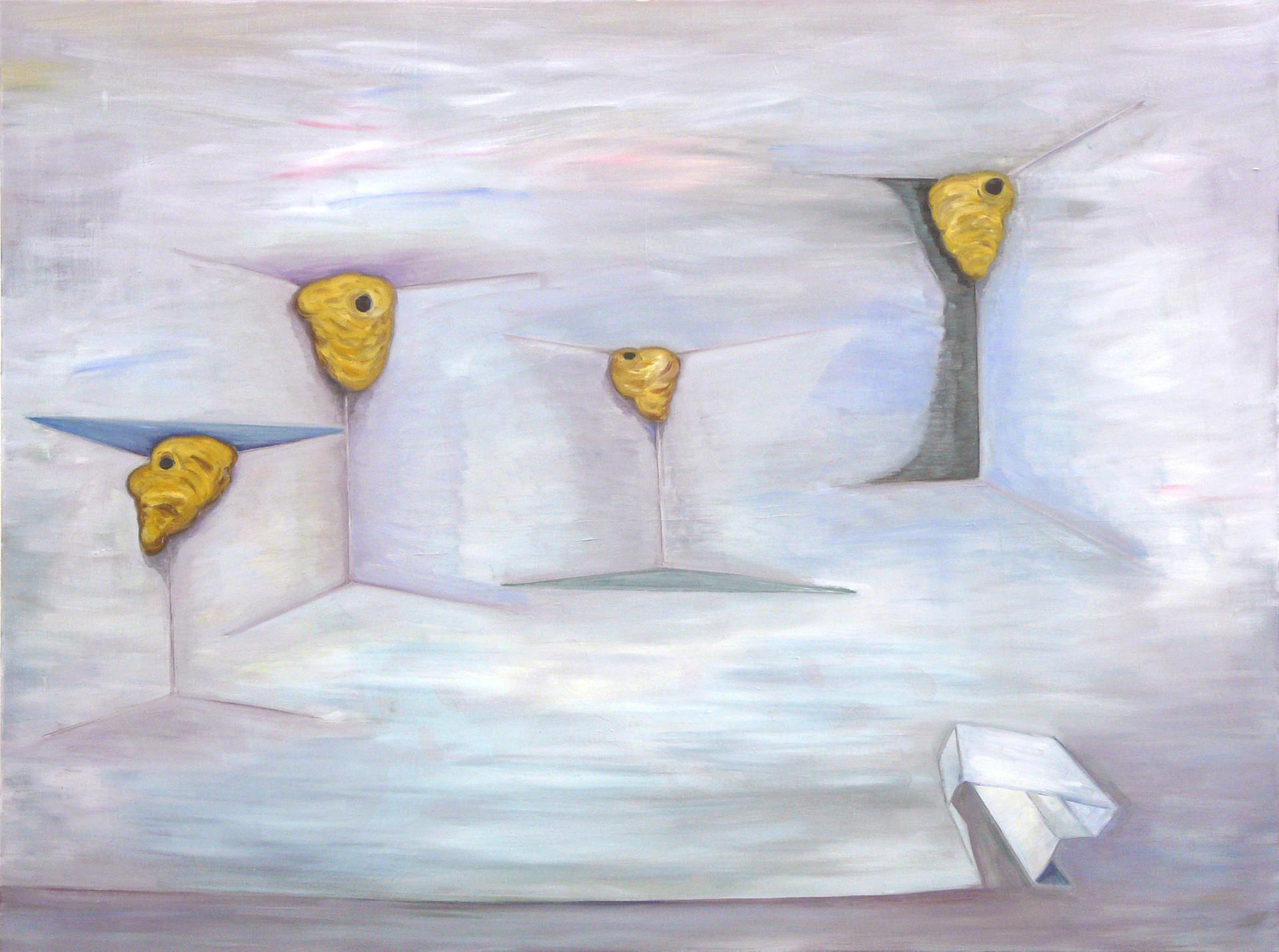 nestecken - 2008 - öl auf leinwand - 120 x 160 cm