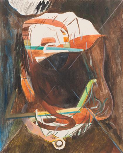 tuchkopf - 2015 - wasserfarbe auf leinwand - 50 x 40 cm